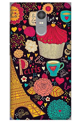 Customized 3D-Xiaomi Redmi Note 4 Paris Valentine's Day Mobile Cover