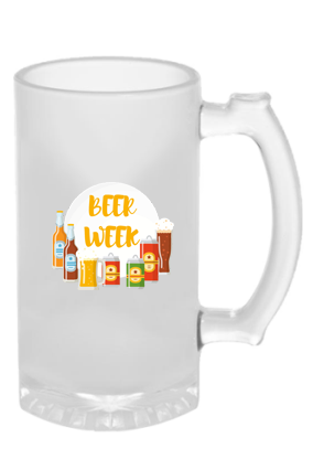 Beer Week Frosted Glass Beer Mug