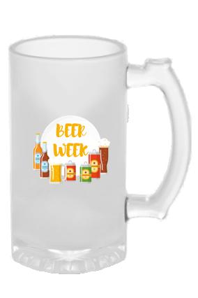 Beer Week Frosted Glass Beer Mug
