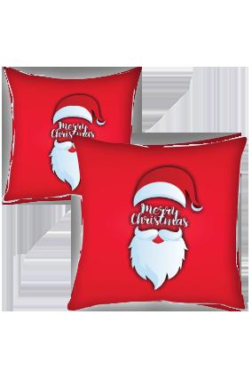 Santa Cap and Beard Merry Christmas Cushion Cover