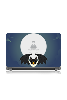 Bat and Moon Vinyl Laptop Skin