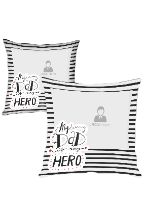 Dad My Hero Polyester Cushion Cover