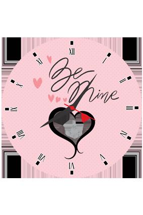 Be Mine Personalized Round Valentine Clock