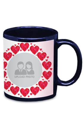 Hearts Blue Patch Mug