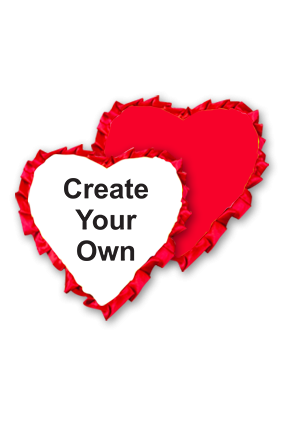 Create Your Own Velvet Heart Shape Red With Red Ribbon Cushion