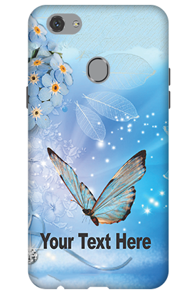 3D - Oppo F7 Blue Butterfly Mobile Cover