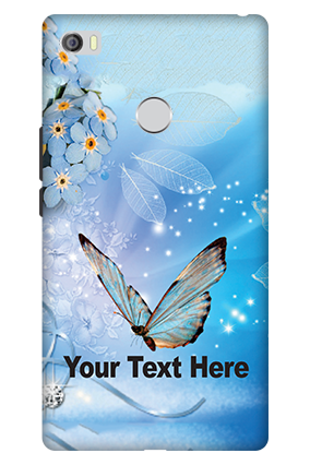 3D - Xiaomi Mi Max Blue Butterfly Mobile Cover