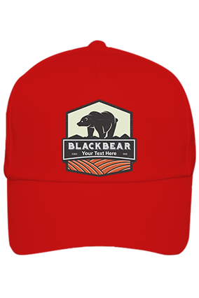 Blackbear Personalized Cotton Red Cap