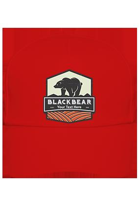 Blackbear Personalized Cotton Red Cap