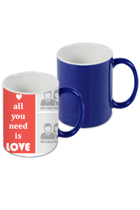 All You Need Is Love Blue Magic Mug