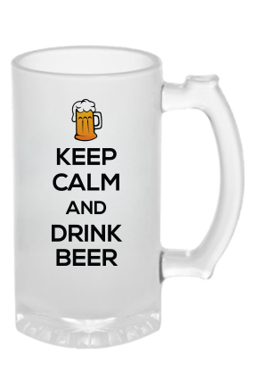 Keep Calm Frosted Beer Mug