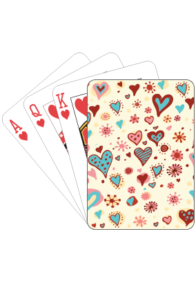 Love Birds Playing Card