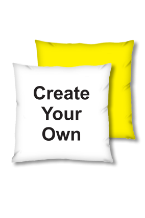 Create Your Own Velvet Square Yellow Cushion
