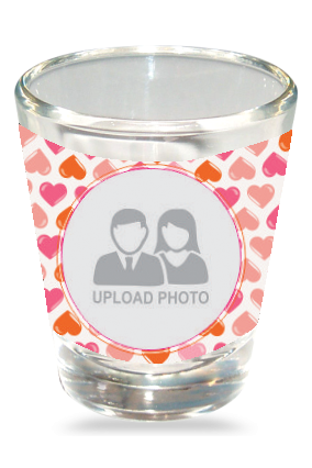 Small Hearts Shot Glass