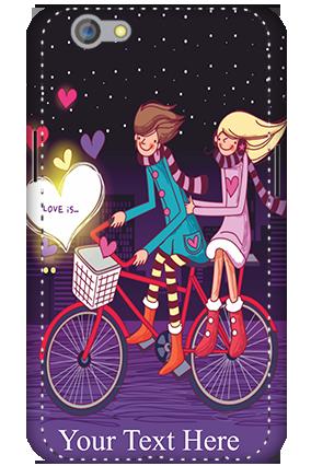 Designer 3D-Oppo F1S Ride Valentine's Day Mobile Cover
