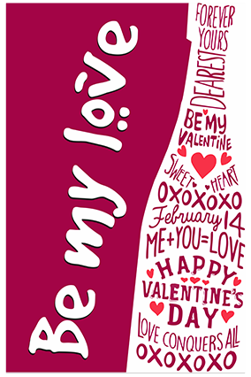 Be My Love Valentine Poster