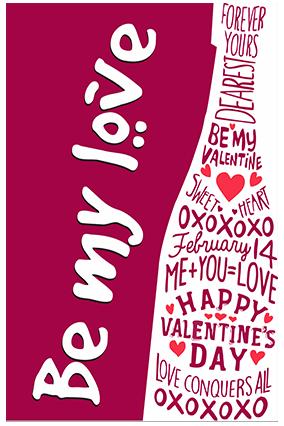 Be My Love Valentine Poster