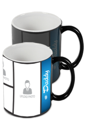 Blue Personalized Father's Day Exclusive Black Magic Mug