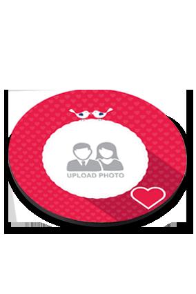 Heart Round Coaster Printing