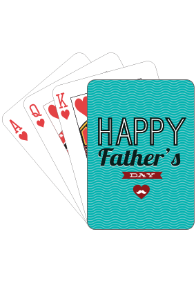 My Dad My Hero  Fathers Day Playing Cards
