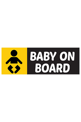 Baby Bumper Printed Sticker