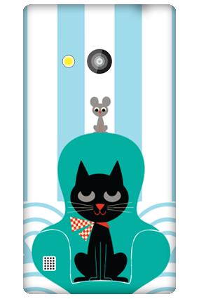 Black Cat Nokia Lumia 720 Mobile Cover