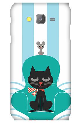 Silicon-Samsung Galaxy J5 Cat Mobile Cover