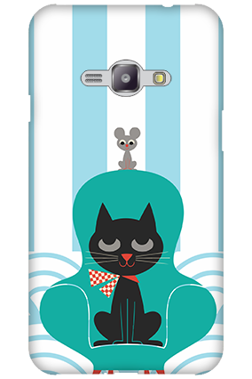 Silicon - Samsung Galaxy J1 Ace Cat Mobile Cover