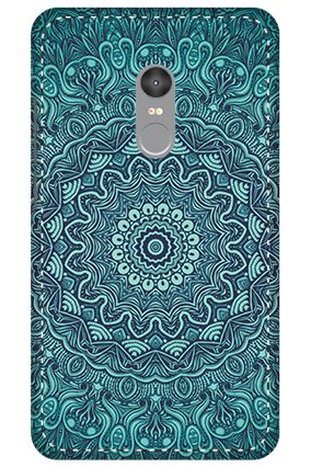 3D - Xiaomi Redmi Note 4 Blue Pattern Mobile Cover