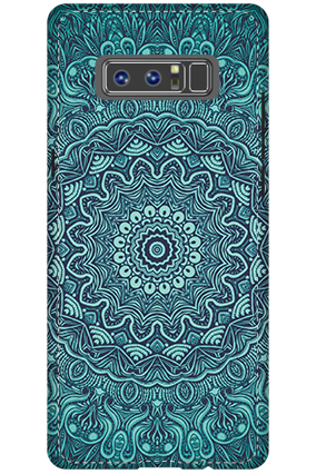3D - Samsung Galaxy Note 8 Blue Pattern Mobile Cover