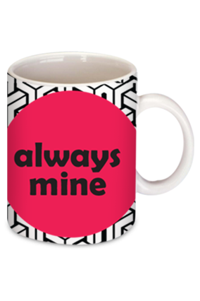 Always Mine Personalized Bone China Mug