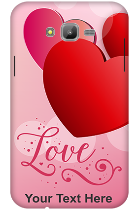 3D-Samsung Galaxy J7 Love Hearts Mobile Cover