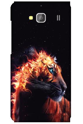 Xiaomi Redmi 2 Fired Tiger Mobile Cover