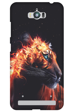 Silicon -  Zenfone Max ZC550KL Fired Tiger Mobile Cover