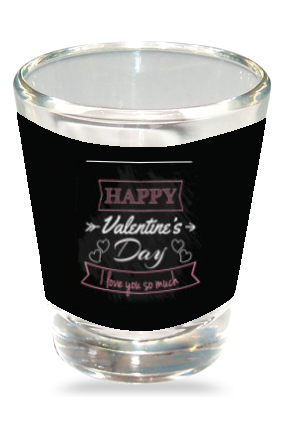 Love Is In Air Shot Glass