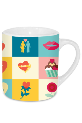 Artful Valentine's Day Tea Mug