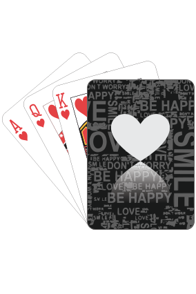 Love Positive Valentine Day Playing Cards