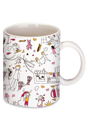 Celebrations White Coffee Mug