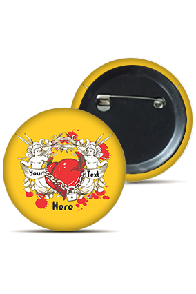 Personalized Trendy Love Round Badge