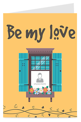Be My Love Valentine Greeting Card