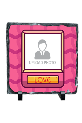 In Love With You Personalized Valentine Square Photo Rock