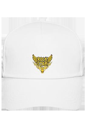 Printed Rock Star Cotton White Cap