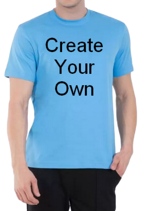 100GSM - Create Your Own Sky Blue Round-Neck Dry-Fit T-Shirt