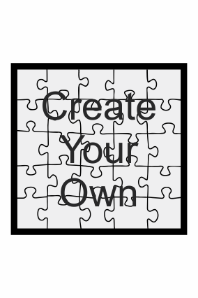 Create Your Own Square Shape MDF Puzzle
