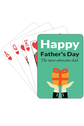 Awesome Dad  Fathers Day Playing Cards