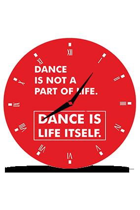 Bright Red Round MDF Clock