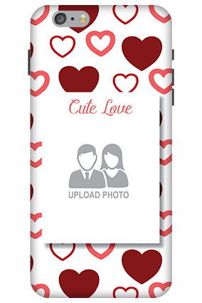 Customized 3D-Apple iPhone 6 Plus Our Cute Love Mobile Cover