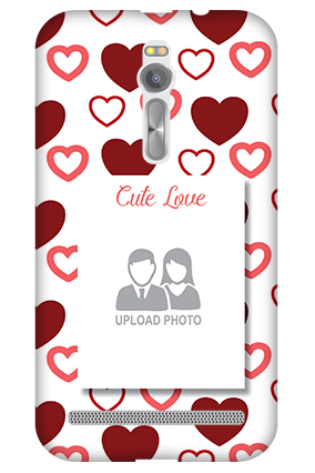 3D - Asus ZenFone 2 Our Cute Love Mobile Cover