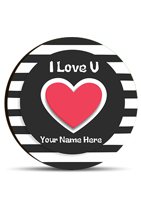 I Love You Valentine Round Photo Magnet