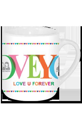 Love You Valentine's Day Tea Mug